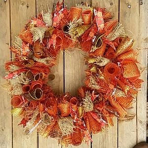 🌻🌼New Handcrafted  Fall🌻🌼 Autumn Wreath